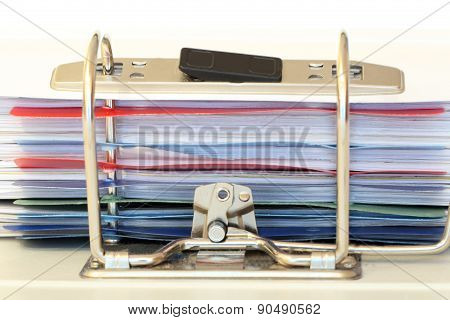 Close Up View Of A Ring Binder