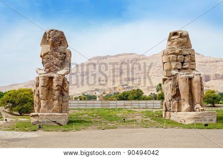 Colossi Of Memnon. Luxor, Egypt