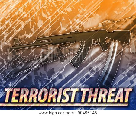 Abstract background digital collage concept illustration terrorist threat