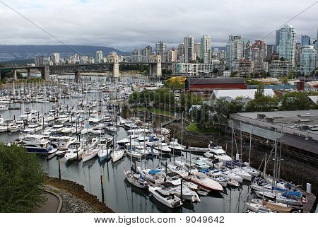 Granville Island and Vancouver Skyline