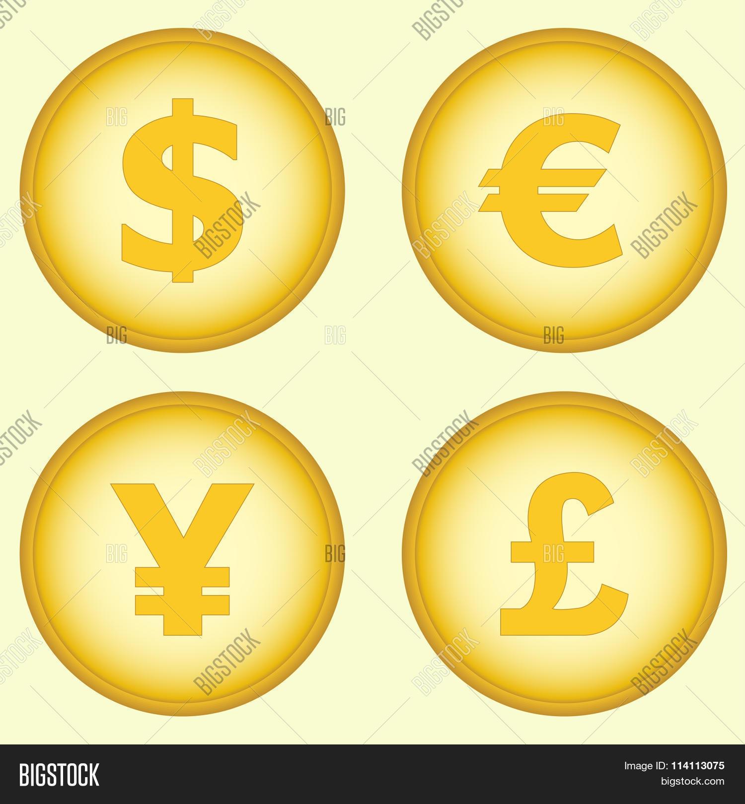 Dollar Euro Yen Pound Symbols Vector Photo Bigstock