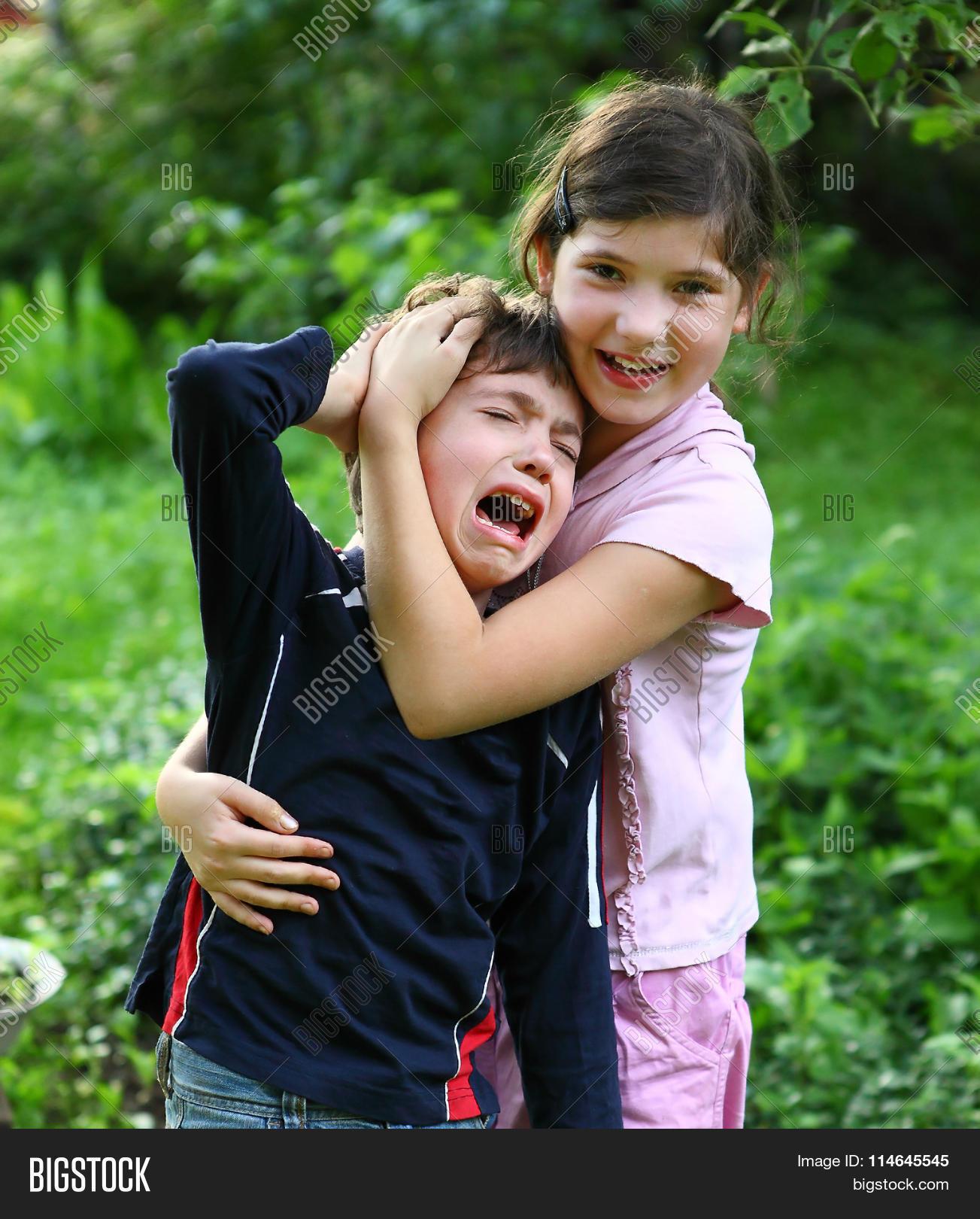 girl comforting image photo free trial bigstock