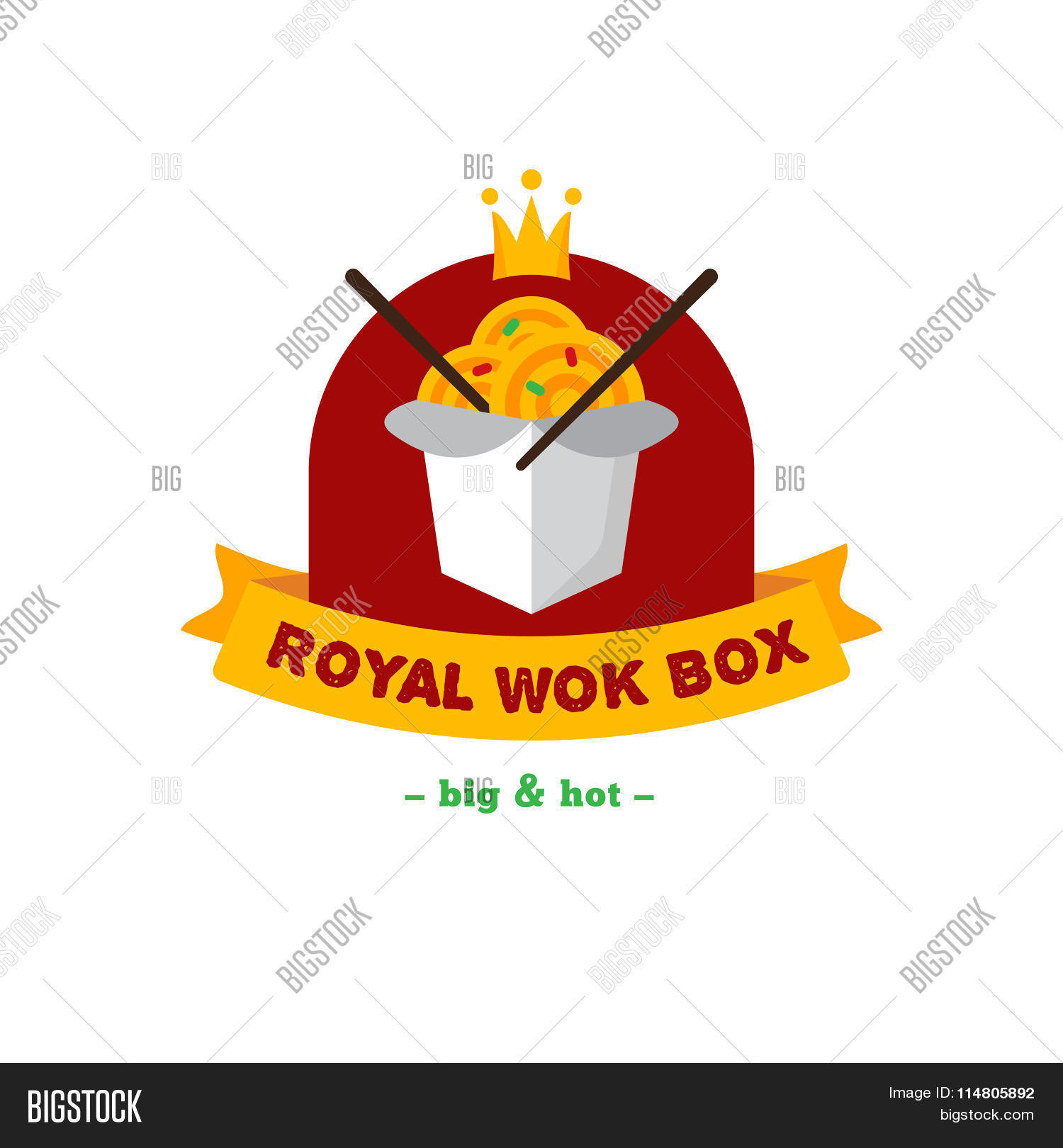 Vector Bright Wok Box Vector Photo Free Trial Bigstock