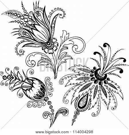 Paisley Mehndi Vector Floral Design