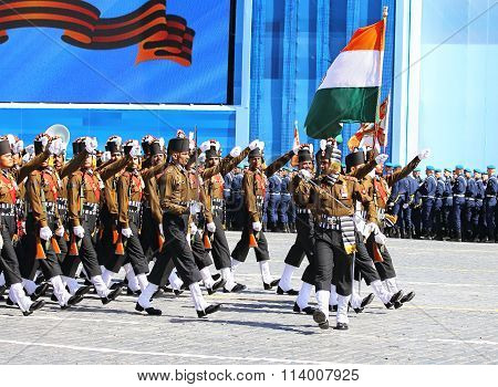 Ceremonial March Of Indian Troops