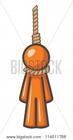 Orange Man Hanging