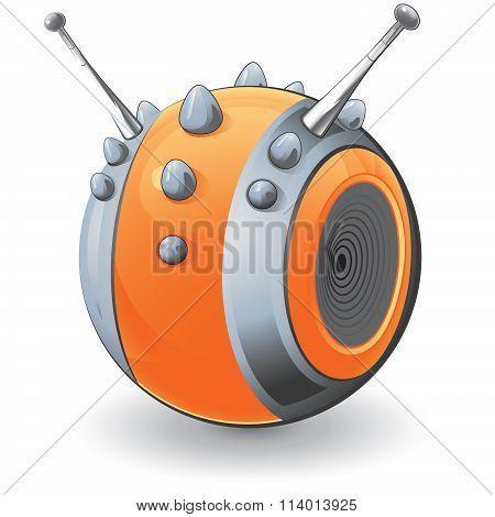Spikey Orange Design Ornament Gizmo