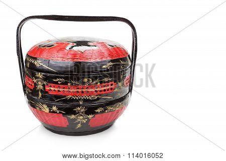 Traditional Tiered Bakul Siah Wedding Basket Used By Peranakan Chinese