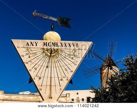 sundial in palma, mallorca