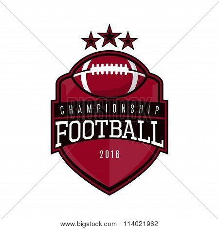 Vector Label Of American Football
