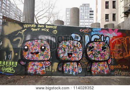 Mural art at Houston Avenue in Lower Manhattan