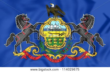 Flag Of Philadelphia (pennsylvania), Usa.