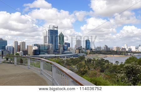 Perth Cityscape and Swan River