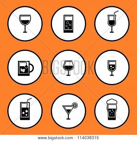 glassful icon set