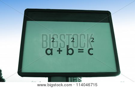 Pythagoras 's Theorem On A Billboard