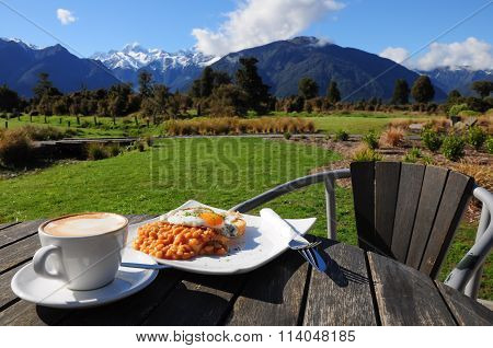 Breakfast With Beautiful View Of Mountain