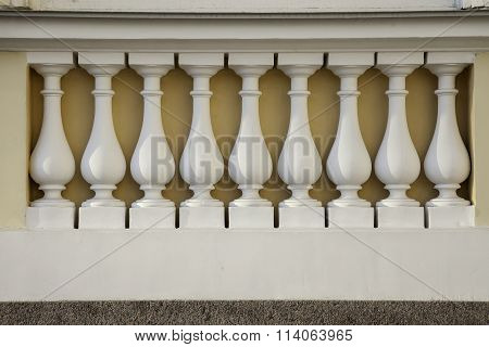 series of balusters, architectural decoration
