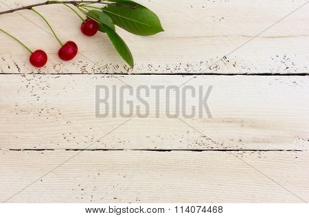 Cherries on top of the white boards