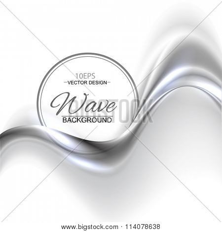 Silver gray abstract wave vector background