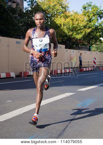 Geoffrey Mutai at Berlin Marathon 2015