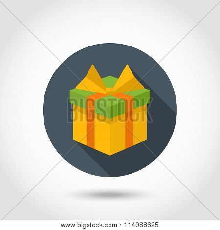 Gift box colorful icon