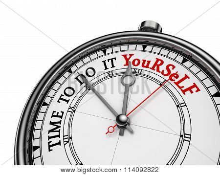 Time To Do It Yourself Red Message On Concept Clock
