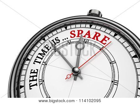 Spare Time Red Word On Concept Clock