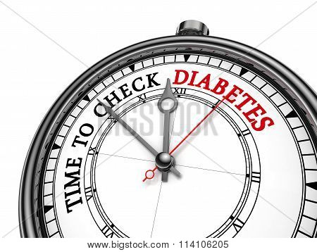 Time To Check Diabetes Concept Clock