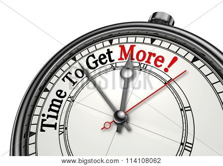 Time To Get More Motivation Message On Clock