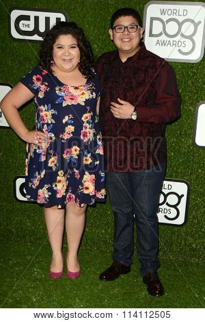 LOS ANGELES - JAN 9:  Raini Rodriguez, Rico Rodriguez at the The CW World Dog Awards at the Barker Hanger on January 9, 2016 in Santa Monica, CA
