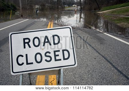Road Closed From Flooding