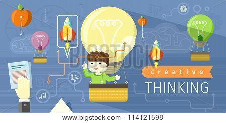 Creative Thinking Design Flat Concept