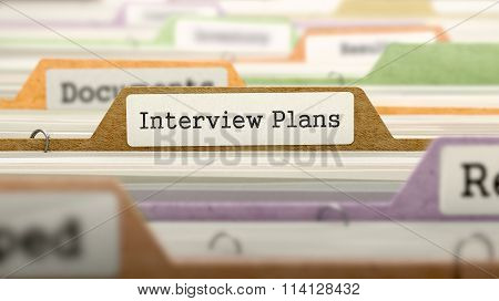 Interview Plans - Folder Name in Directory.
