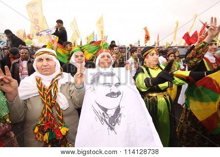 Kurdish Newroz in Turkey.