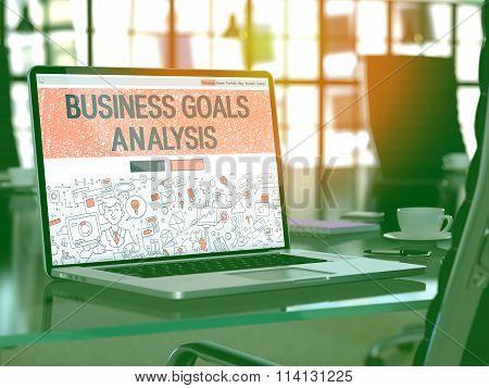 Business Goals Analysis - Concept on Laptop Screen.