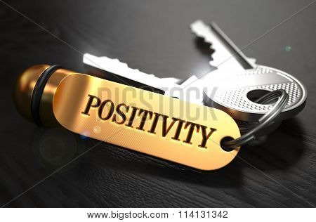 Positivity Concept. Keys with Golden Keyring.