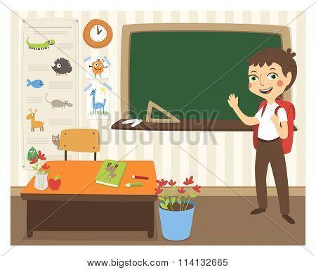 Back to school vector illustration.