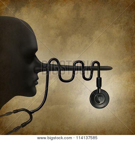 Medical Lies Concept