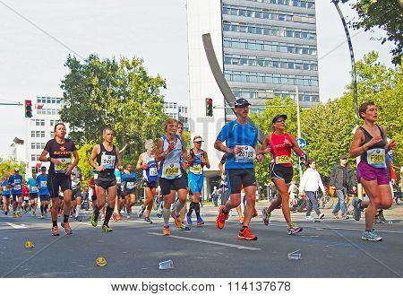 runners at Berlin Marathon 2014 at the Urania