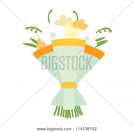 Wedding bouquet vector illustration