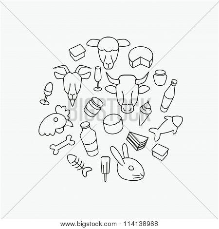 Line farm icons