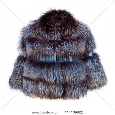 fashion fur coat isolated on white