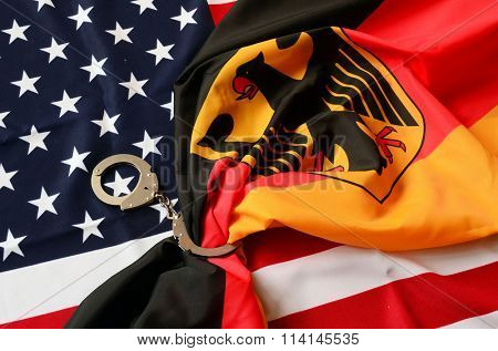 Partnership. USA and Germany Flag
