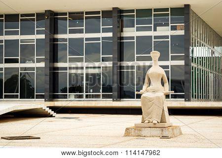 Supremo Tribunal Federal Building In Brasilia, Capital Of Brazil