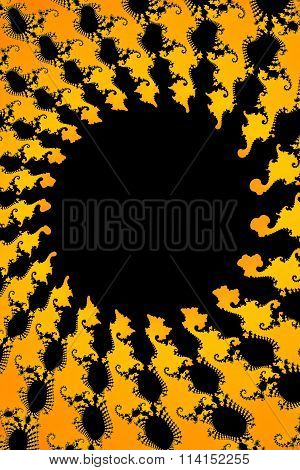 Dark Yellow Fractal