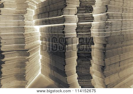 Stack Of Corrugated Paperboard