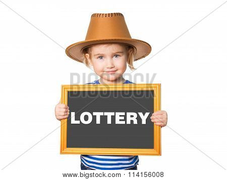 With Blackboard. Text Lottery.