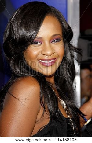 LOS ANGELES, CALIFORNIA - August 16, 2012. Bobbi Kristina Brown at the Los Angeles premiere of 'Sparkle' held at the Grauman's Chinese Theatre, Los Angeles.