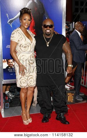 LOS ANGELES, CALIFORNIA - August 16, 2012. Cee-Lo and Viveca A. Fox at the Los Angeles premiere of 'Sparkle' held at the Grauman's Chinese Theatre, Los Angeles.