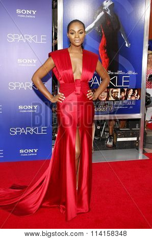 LOS ANGELES, CALIFORNIA - August 16, 2012. Tika Sumpter at the Los Angeles premiere of 'Sparkle' held at the Grauman's Chinese Theatre, Los Angeles.
